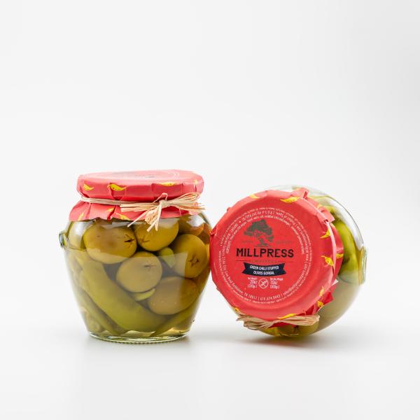 Green Chili Stuffed Olives Gordal
