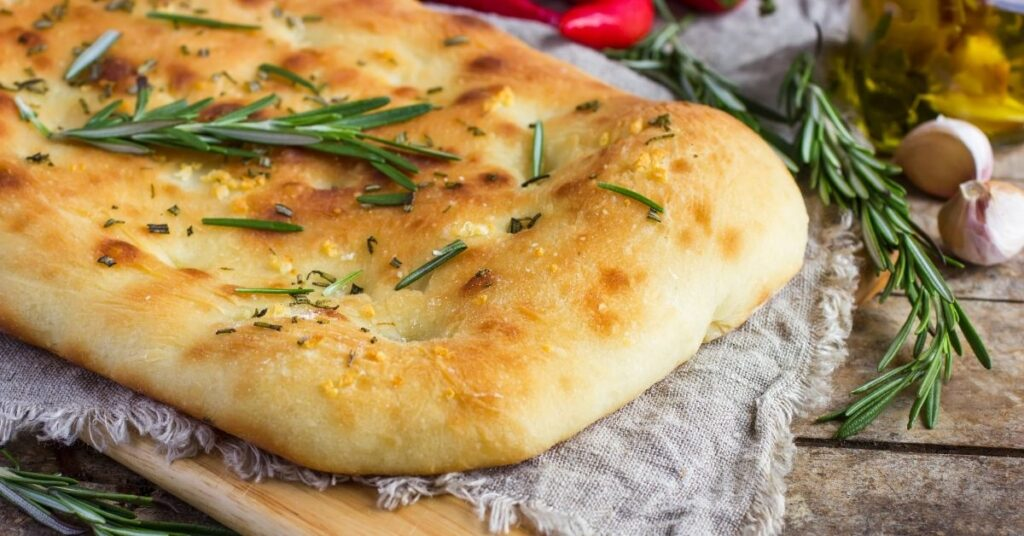 Fresh Baked Roasted Garlic Olive Oil Pesto Focaccia Bread (5 Easy Steps)