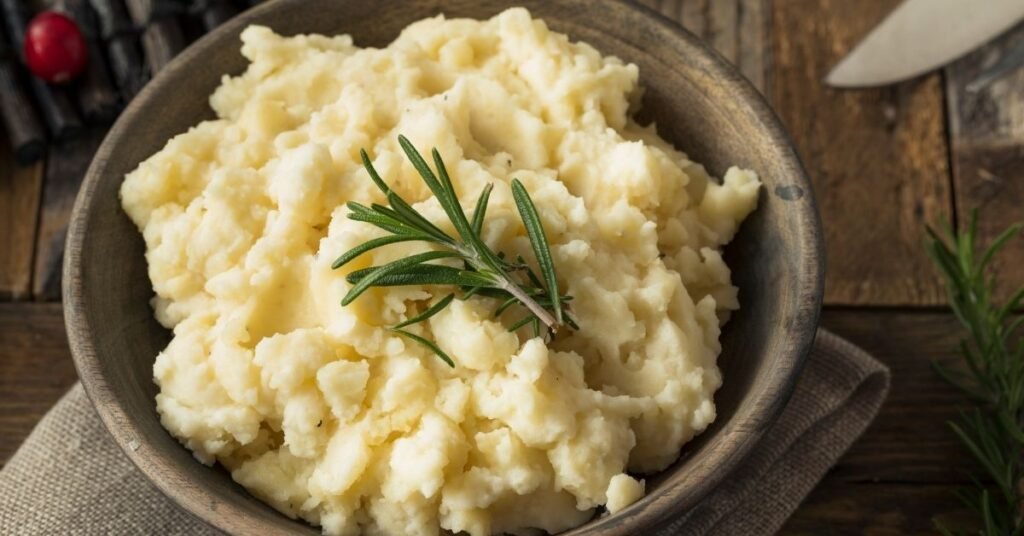 olive oil and garlic mashed potatoes