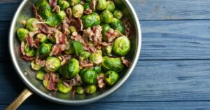 Sweet and Savory, Bacon and Brussels Sprouts Salad with Maple-Balsamic Vinaigrette in Under 35 Minutes