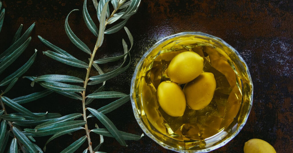 olives in olive oil in a clear bowl extra virgin olive oil myths